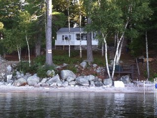 Sebago Lake... charming  2 bedroom  WATERFRONT cottage. Dock, mooring, & SUNSETS