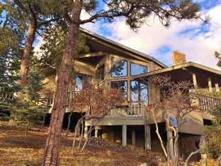 Beautiful Home Surrounded by Tall Pines and Awesome Mountain Views