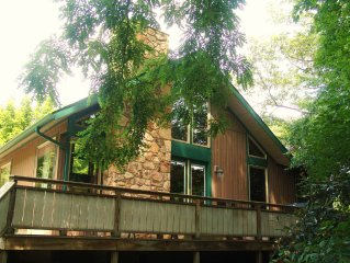 Riverside Chalet; Near Bike Trail, Hiking, Rafting, Fallingwater and mountains