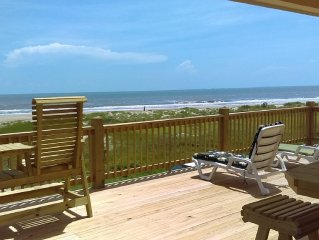 Unobstructed View!! Beachfront - Quiet - Private! Get Away from it All! New 2016