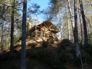 Luxury Cabin Overlooking Large Trout Pond on Former Summer Camp.. Come & Play
