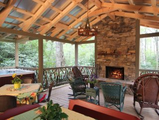 In Town, 2 Masters, Outdoor Living Area W/fireplace,Spa, Stream & Pond