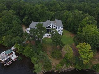 Grand Estate On Lake Gaston (13,500 Sq ft) on 5 Acres 'Eagle Point' Sleeps 43