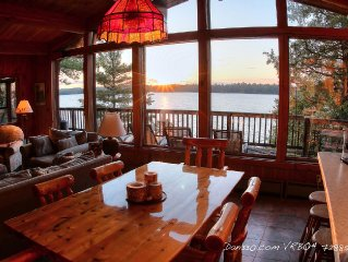 Premier cabin and views of Elbow Lake. Great for families.