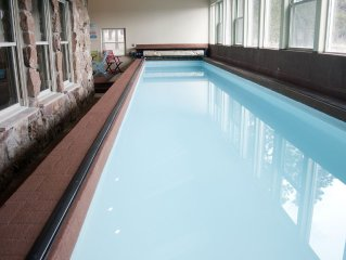 PRIVATE INDOOR 44ft HEATED LAP POOL w/ Perfect  Pikes Peak Views! Video Tour