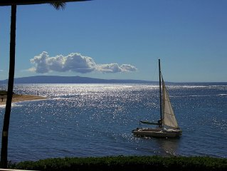 Maui BEACH FRONT condo w/AC, OCEAN VIEW! Air Conditioning!
