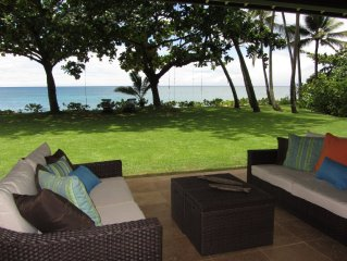 Beachfront Luxury Home With Spacious Yard              North Shore of Oahu