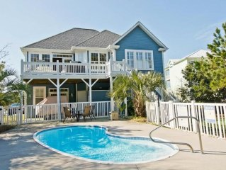 Awesome Oceanside Home with Private Pool, Putting Green, Golf Cart & Sleeps 14+