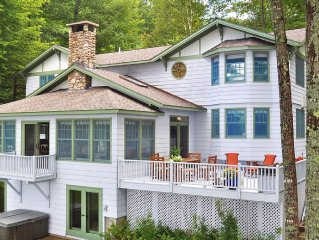 Elegant, waterfront home is arguably the finest rental on Kezar lake