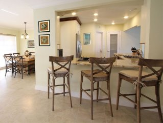 Relaxing So. Florida Vacation Waterfront Home with Walking Distance to the Beach