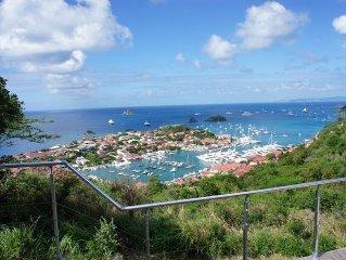 Wonderful views of Gustavia and St. Jean. Very private. Villa Chloe