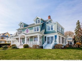 Classic Updated Beachfront Beauty with Stunning Waterviews and Private Beach