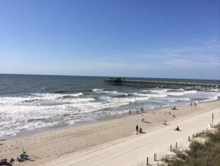 Book Fall Now!! Next to Garden City PIER! BEACHFRONT Condo with PRIVATE POOL!
