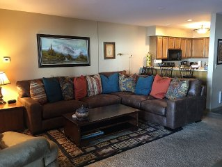 2 Bdr / 2 Bath. Ski right to front patio. Great mountain access!