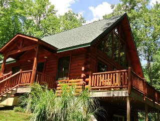 Beautifully Constructed Log Cabin located in secluded wooded area