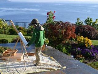 Modern Bainbridge Island Home with Ocean and Seattle Skyline Views