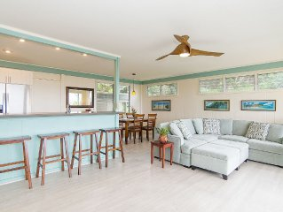 5-brm home w/3 private suites, super views, best location, 5 mins to Kailua Bch