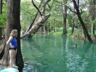 Famous Blue Hole- only 1 mile from house!! swimming is divine!