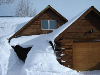 Warm and well equipped log home with uninterrupted views of West Elks.