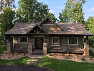 Spectacular New Build - Private Cabin Across from Gull Lake! Walk to Bar Harbor!