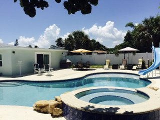 LIKE NEW 3 BR 2BA Home w/STUNNING POOL & private yard near beach & Atlantic Ave!