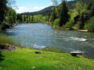 Quaint cabin right on River toward Creede