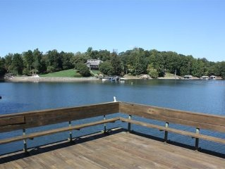 Secluded Cove off Main Channel with one of the Best Docks on LKN!