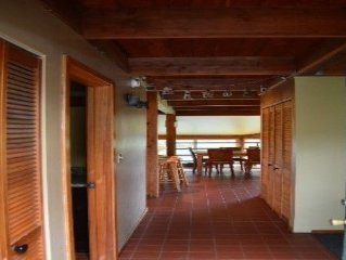 Beautiful one acre beachfront property, ocean views, sleeps 8 and pet friendly.