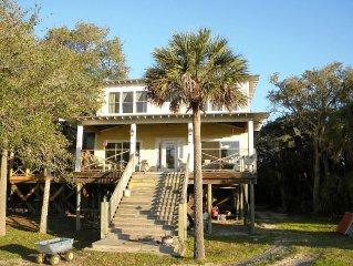 Intercoastal*BayBeach Home on Private Goat Island at Charleston SC*SMOAK HOUSE