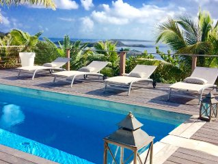 Orient Bay Charming house with amazing view facing Pinel and tintamarre island