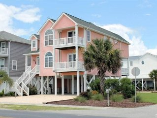 Luxury OIB Canal Home with Ocean Views, Direct Beach Access and Boat Dock