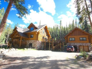 Custom Log Home Two Miles from Breckenridge,  Sleeps up to Fifteen, Just listed