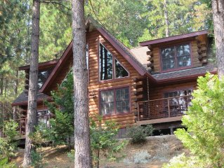 Lost Mine Retreat: Custom Log Home Outside of Nev