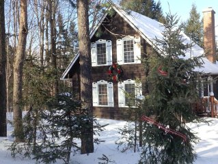 Stay in the warm & cozy GINGERBREAD HOUSE walking distance to ski slopes