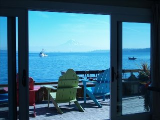 Sunrise Beach Gig Harbor Beach Front Home with Mt Rainier View