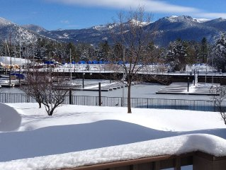 Tahoe Keys Townhouse with Beautiful Views of Heavenly Valley and waterways.
