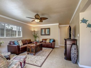 Walk to beach!beautiful, bright, fully remodeled, very clean & amenities galore!