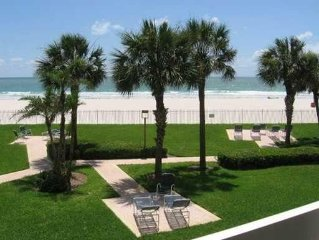 Beautiful Beachfront Condo With Covered Parking And 30' Balcony  on Gulf