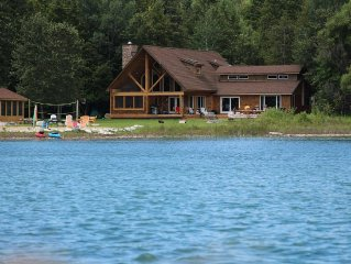 Spacious Waterfront Home in Hessel - Perfect for large families year round!