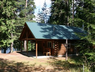 Private Lake Front Log Cabin & Dock