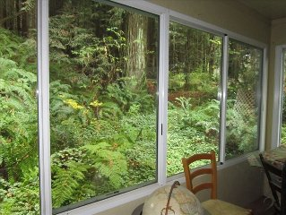 2 Bdrm River Retreat * Redwoods, Ferns, Creek & Trail Access