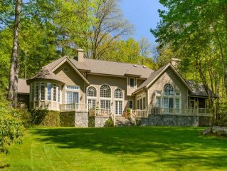 Spectacular Lakefront Estate!   Exclusive Club with Golf-Tennis-Boating-Hiking!