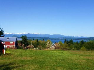 Barn with a View: Inspiring retreat, organic farm with Hood Canal, Olympic views