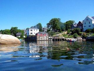 1900s Former Grist Mill on Harbor w/ Kayaks, Equip, Dock, Beach, Flexible Living
