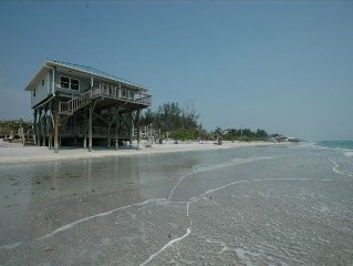 Beach Front-Little Gasparilla- WEEKLY,INTERNET,GOLF CART, PETS CONSIDERED,