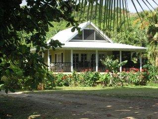 Beautiful Plumeria Cottage-Anini Beach Plantation Style Home