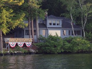 Beautiful Rustic Waterfront Home on Lake Winnipesaukee in Meredith , NH