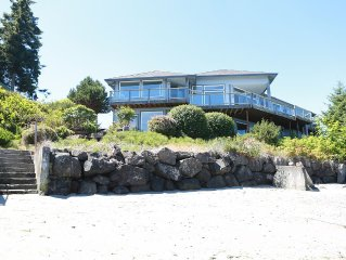 Beautiful Hood Canal Home at the Water's Edge--Sweeping Views and Sandy Beach