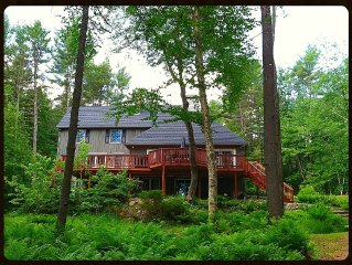 Waterfront Home with Sandy Beach, Just 200 Yds from Shawnee Peak Skiing