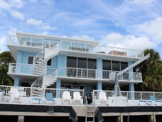 Ocean Front with large heated Pool & Hot Tub 5Br/4B 32 foot boat on property.